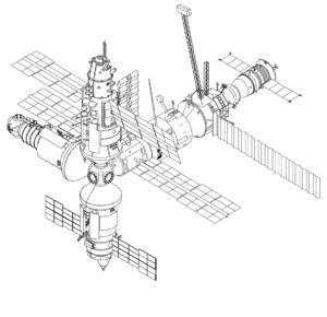 Mir po přesunu Spektru na spodní radiální uzel