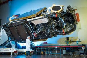 Modul PPE bude postaven na platformě komunikačních satelitů Maxar 1300. Na fotografii 57. družice produktové řady 1300 - Intelsat 39, vynesená 6. srpna.