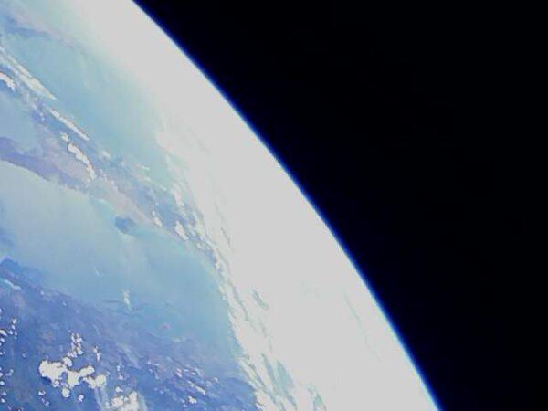 Fotografie, kterou pořídila česká družice Lucky 7