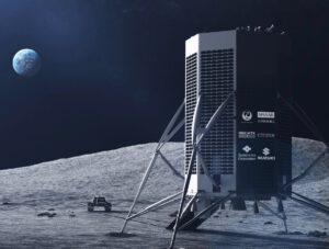 Vizualizace landeru a roveru, které mají k Měsíci vyrazit v roce 2023.