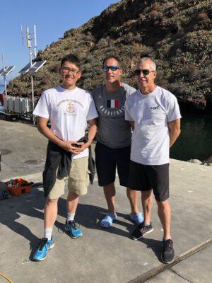 Norishige Kanai, Thomas Pesquet a Andrew Feustel