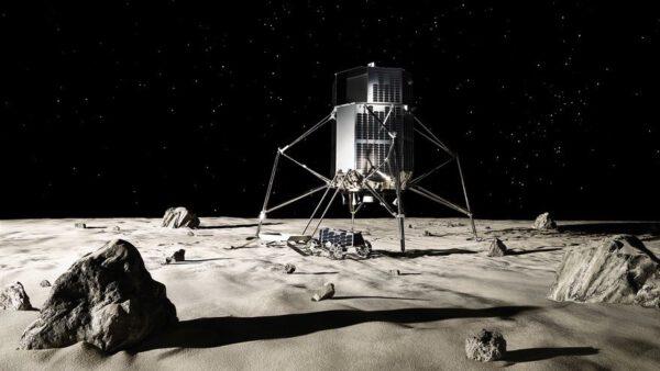 Vizualizace landeru firmy ispace.