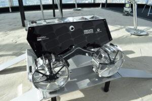 Model roveru Sorato, který tým HAKUTO chystal pro Google Lunar XPRIZE.