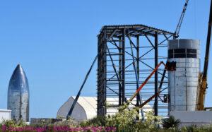 Stavbu Starship v Texasu pravidelně sleduje bocachicagal