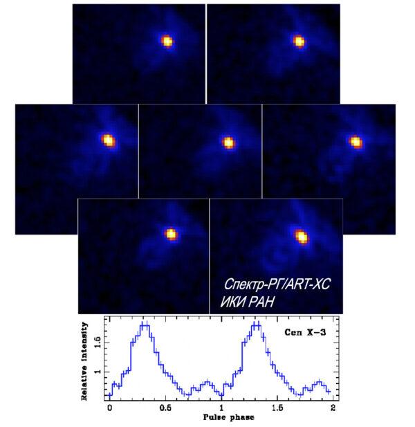 Snímek pulsaru ze souhvězdí Kentaura pořízený přístroje ART-XC.