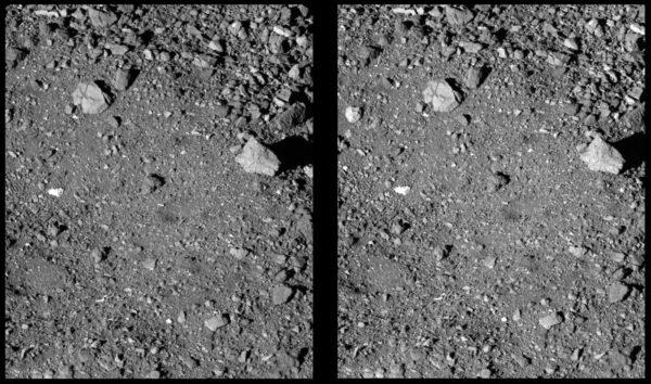 Stereosnímek lokality Sandpiper vznikl z fotek pořízených 21. března 2019 kamerou PolyCam.