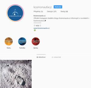Oficiální Instagram našeho webu v den spuštění - 2. 8. 2019.