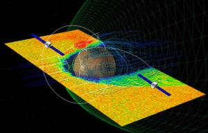 Vizualizace mise EscaPADE (Escape and Plasma Acceleration and Dynamics Explorers)