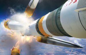 Simulace selhání rakety Sojuz MS-10.