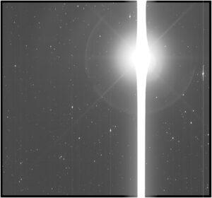 Pohled na Zemi z dalekohledu Kepler ze vzdálenosti 151 miliónů kilometrů ukazuje schopnosti jeho vysoce citlivého fotometru, který byl navržen tak, aby zachytil slabé poklesy v jasu planet u jiných hvězd. Zachyceno 10. prosince 2017.