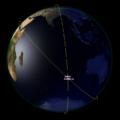 Potenciální srážka Starlink44 s Aeolus 2. 9. 2019