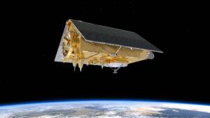 Vizualizace Sentinelu-6 na oběžné dráze.
