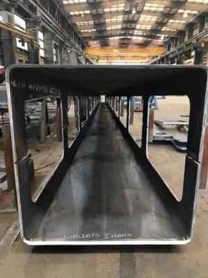 V dubnu 2019 vypadala servisní sekce nové rampy takto.