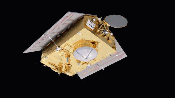 Vizualizace spodní strany družice řady Sentinel-6