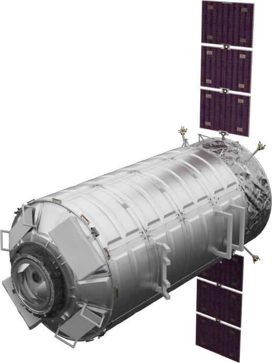 Umělecký koncept logistického modulu vyvinutého na bázi modulu HALO