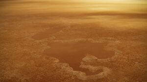 Jezera na Titanu se strmými břehy