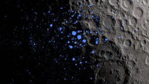 Krátery, které skrývají vodní led