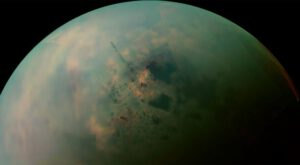 Jezera Titanu vyfocená sondou Cassini
