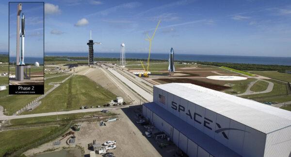 Takto si Jay DeShetler z NSF představuje rampu 39A po dokončení stavebních úprav.