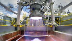 Aeon 1 při zkouškách na Stennisově středisku.