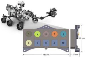 Umístění kalibračního terče na Mars roveru 2020