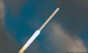 Vizualizace letu rakety Terran 1.