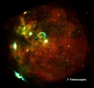 Velké Magallanovo mračno vyfocené přístrojem eROSITA