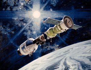 Let Sojuz-Apollo v představách výtvarníka