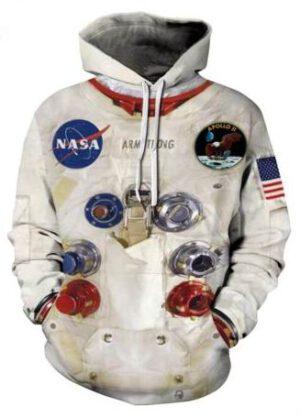 V této stylové mikině nenecháte nikoho na pochybách, že jste naprostí... Totální... Úplní... No, příznivci kosmonautiky