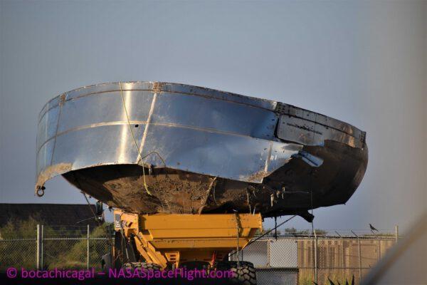 Odvážení horní kopule nádrže Starship Mk.1