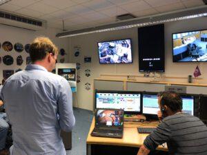 Vědecký tým v Kolíně nad Rýnem během experimentu Analog-1.