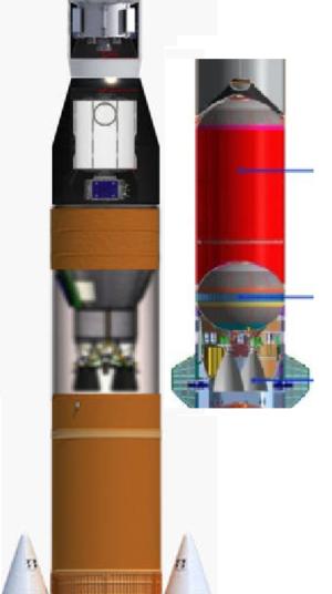 Porovnání velikostí EUS a alternativního návrhu od Blue Origin z diskuse na portálu NSF