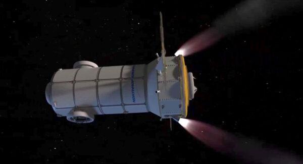 Představa modulu HALO z videa, které umístil Northrop Grumman na svůj Twitter.