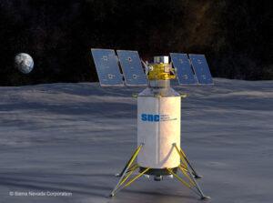 Vizualizace lunárního landeru od firmy Sierra Nevada Corporation