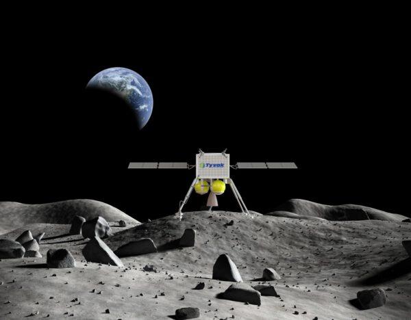 Vizualizace lunárního landeru od firmy Tyvak Nano-Satellite Systems Inc.