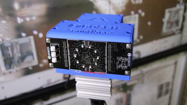 Modul SoundSee firem Bosch a Astrobotic, příklad periferie pro Astrobee. Na stanici jej dopravila zásobovací mise NG-12. Projekt je řízen zVýzkumného střediska firmy Bosch vPittsburghu.