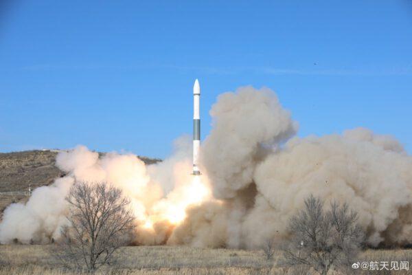 Start čínské rakety Kchuaj-čou 1A