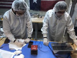 AzTechSat-1 během předstartovní přípravy