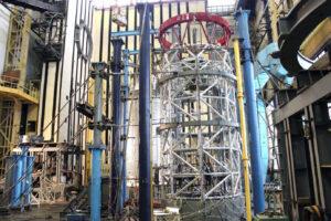 Statické testy neletového exempláře příhradové konstrukce nehermetizovaného úseku modulu NEM v RKK Eněrgija