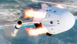 Crew Dragon provede únik od rakety i s připojeným trunkem - výstupky na něm totiž sestavu aerodynamicky stabilizují.
