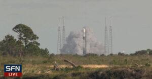Statický zážeh Falconu 9 před misí Starlink v1.0 L3