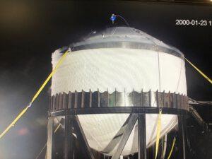 Bopper 2 při kryogenní zkoušce.