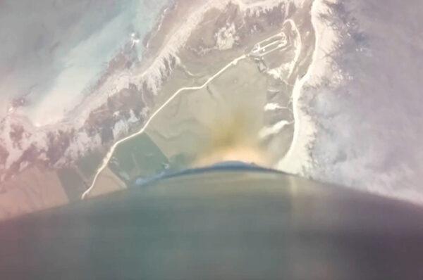 Záběr na kosmodrom z paluby rakety Electron se také nevidí každý den.