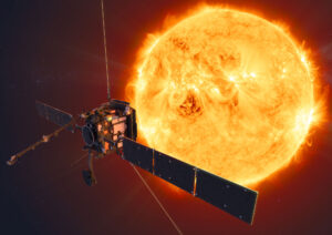 Vizualizace sondy Solar orbiter.