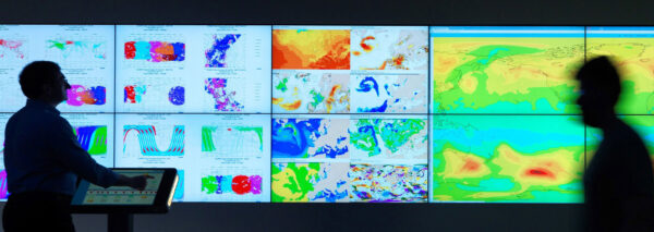 Snímek ze střediska ECMWF (European Centre for Medium-Range Weather Forecasts)