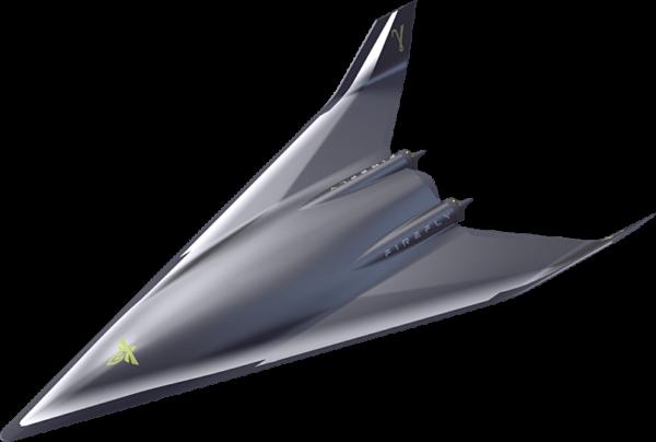 Koncept okřídleného stupně připravovaného nosného systému Gamma společnosti Firefly Aerospace.