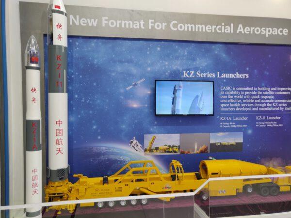 Modely rakiet KZ-1A a KZ-11.