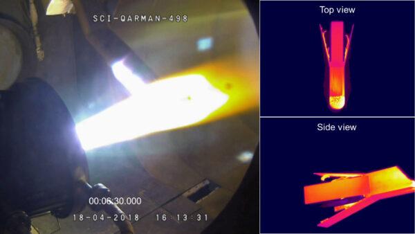 Zkoušky v plazmatickém tunelu.