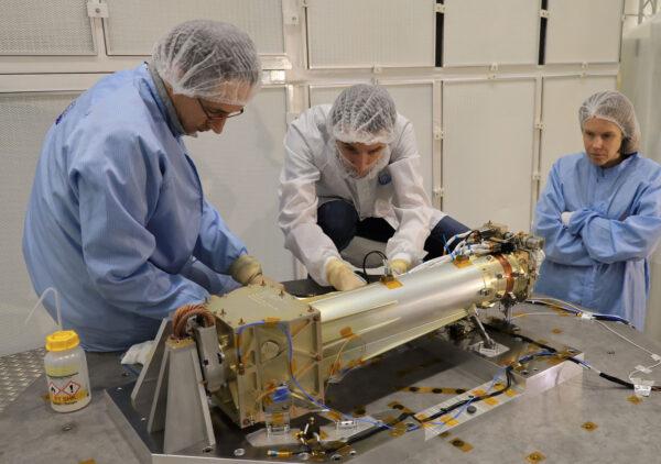 Kvalifikační model přístroje ASPIICS pro misi Proba-3 před zkouškami.