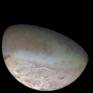 Mozaika snímků měsíce Triton ze sondy Voyager 2